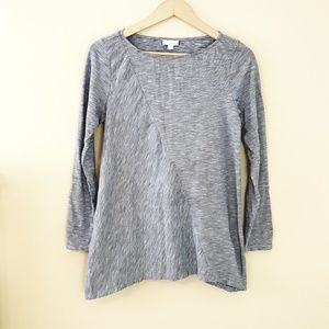 Pure Jill - B/W Long Sleeve Asymmetrical Tunic